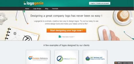 אתר ליצירת לוגו Logogenie