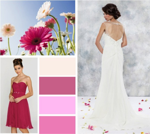 Cerise & ruby wedding colours -  alisonjanebridal.co.uk Mirfield