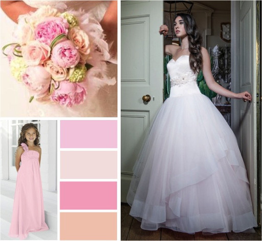 Pretty pink pastels wedding colours -  alisonjanebridal.co.uk Mirfield