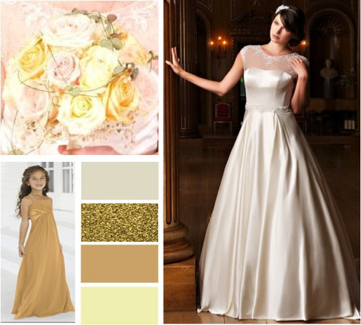 Gold & rich cocoa wedding colours -  alisonjanebridal.co.uk Mirfield