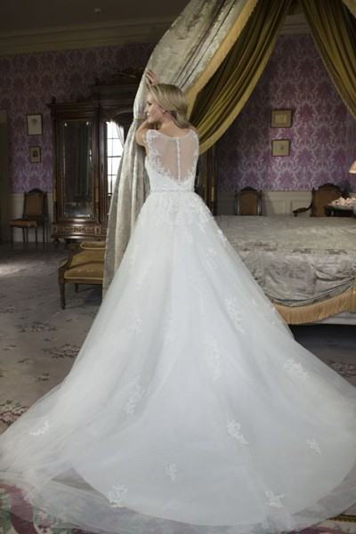 W411 illusion back gown Alexia designs bridal wear.