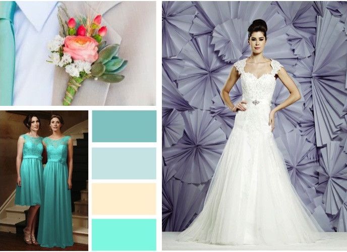 Cool spring wedding colours -  alisonjanebridal.co.uk Mirfield