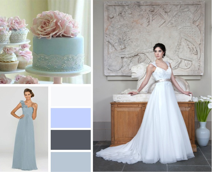 Powder blues wedding colours -  alisonjanebridal.co.uk Mirfield