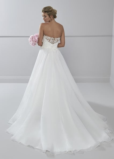 Lace illusion cut out back wedding dress Belinds