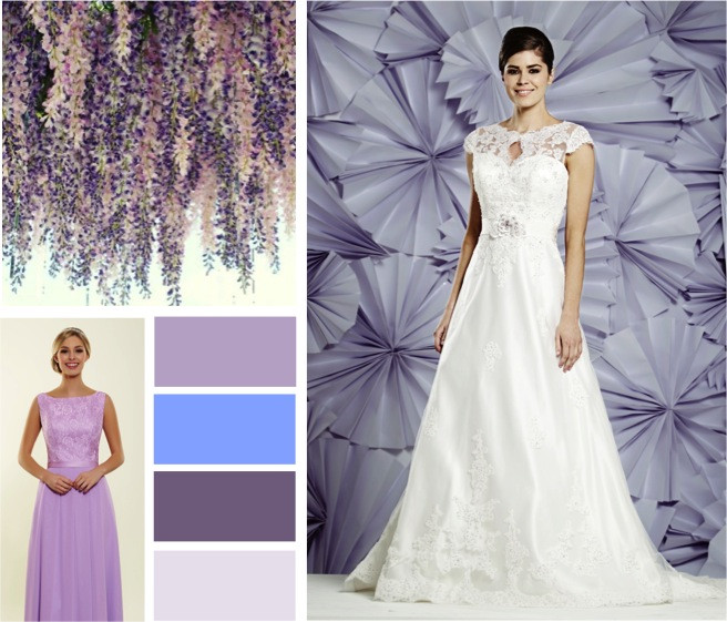 Lavender florals wedding colours -  alisonjanebridal.co.uk Mirfield