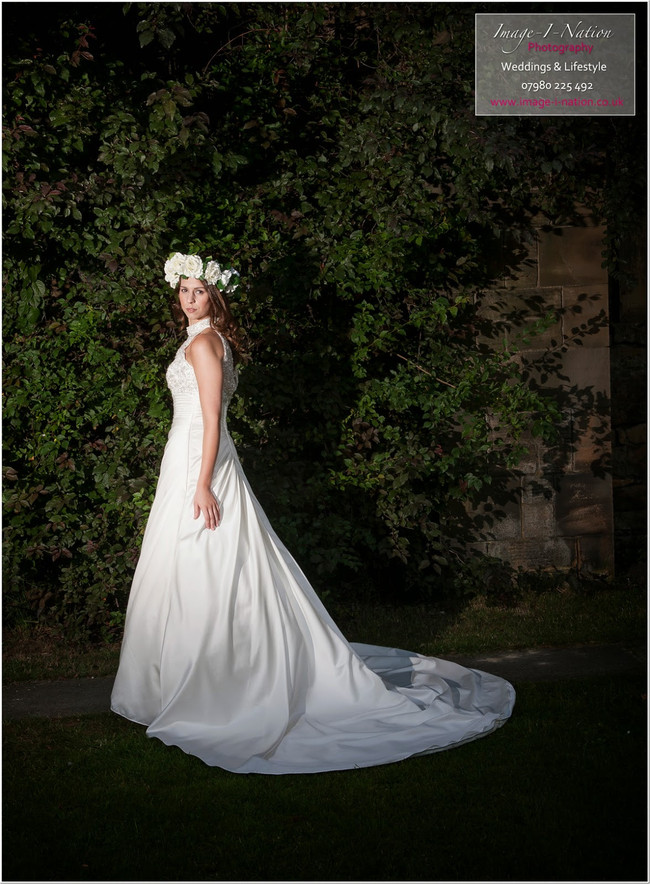 Blog Image-Summer bridalshoot - Floral crown & halter neck wedding dress Mirfield alisonjanebridal.co.uk