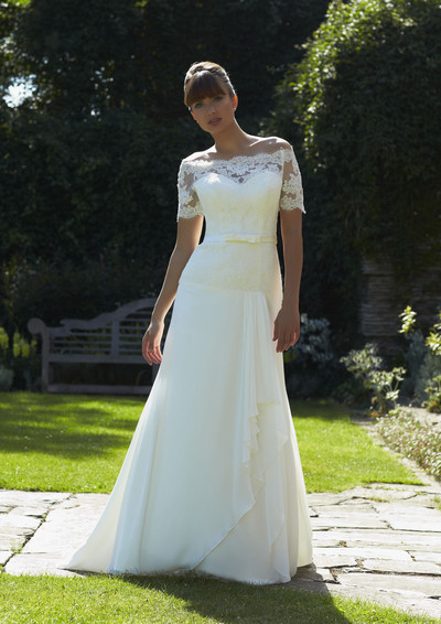 Janet bridal gown off the shoulder lace alisonjanebridal.co.uk