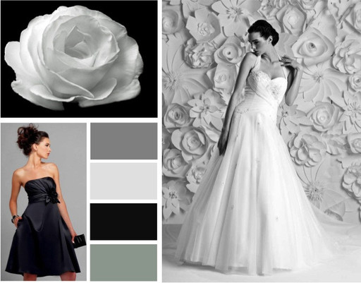 Black, grey and silver  wedding colours -  alisonjanebridal.co.uk Mirfield