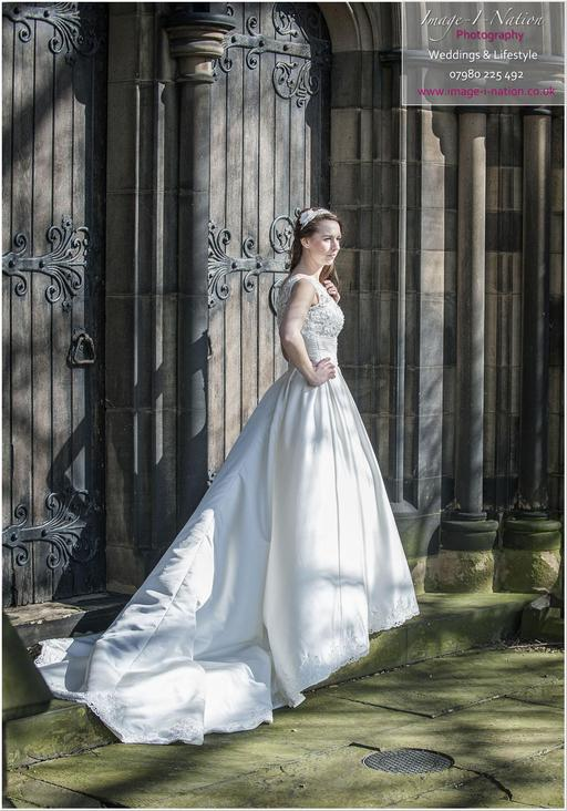 Hadley wedding dress at St Mary's Mirfield. blog 001