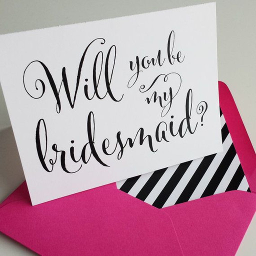 Willl you be my bridesmaids invite