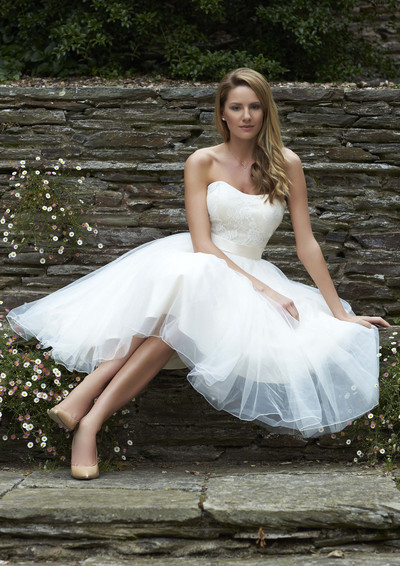 Perfect for hot weather - short wedding dress