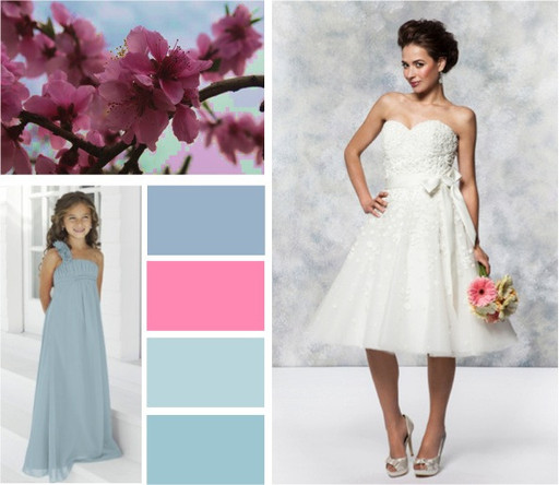 Muted blues periwinkle, misty blue & ice blue wedding colours -  alisonjanebridal.co.uk Mirfield