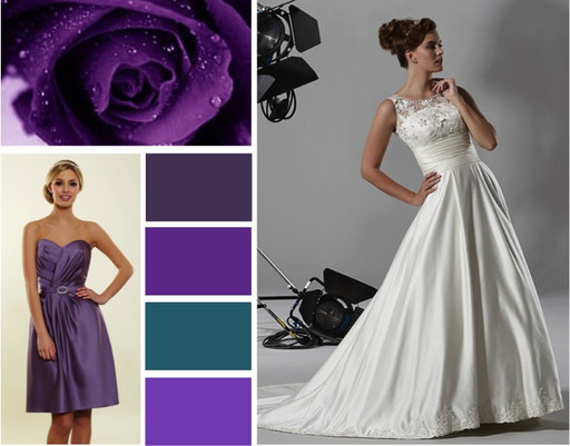 Purple, violet & iris wedding colours -  alisonjanebridal.co.uk Mirfield