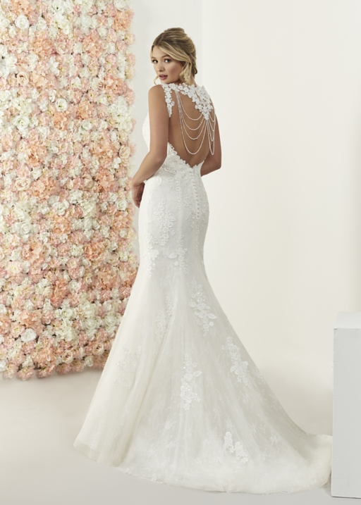 Beaded back necklace Rachael gown