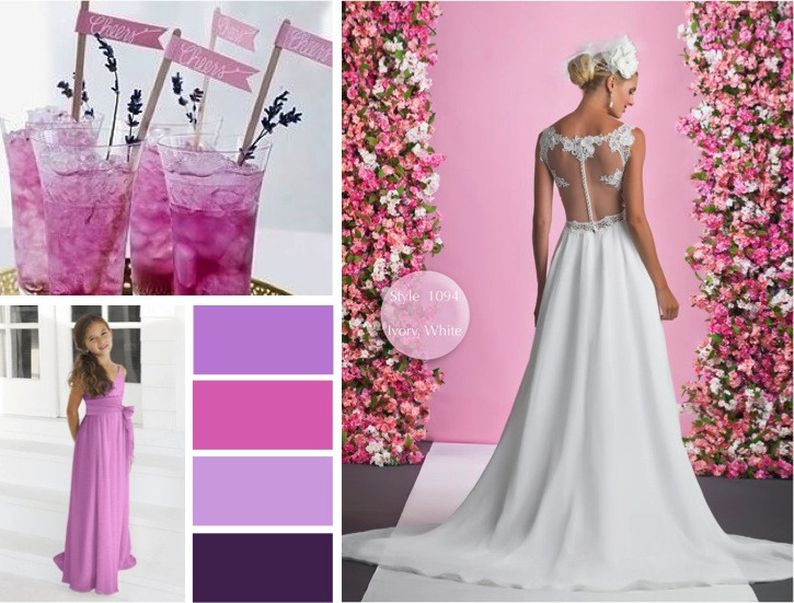 Spring wedding colours Orchid -  alisonjanebridal.co.uk Mirfield