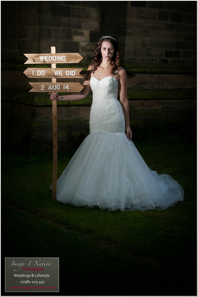 Blog Image-Summer bridalshoot Bridal gown & I Do sign - Mirfield alisonjanebridal.co.uk