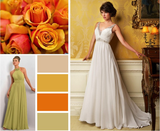 Warm autumn wedding colours -  alisonjanebridal.co.uk Mirfield