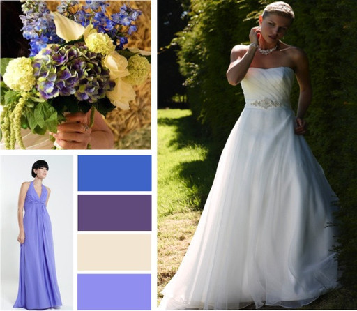 Lavender, Lilac & blue wedding colours -  alisonjanebridal.co.uk Mirfield