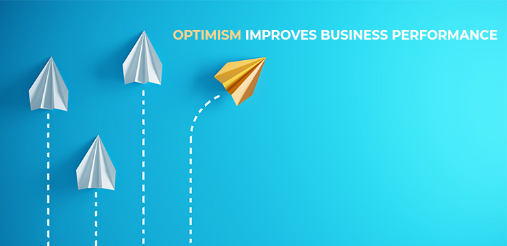 How Optimism Improves Business Performance And Wellbeing Article Title Graphic By Visual Design Group Australia - Author Wayne Larkin