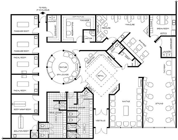 Spa Floor Plans Spa Floor Plan Hotel Pinterest Floor