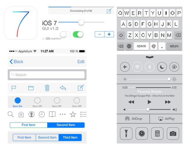 Light Motif iOS PSD UI
