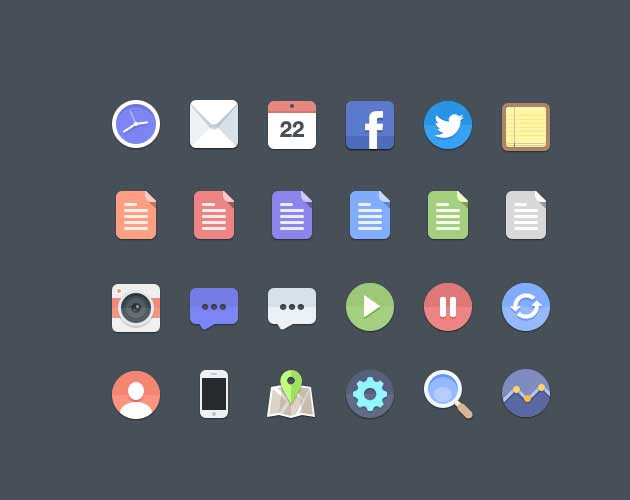 Color Basics Icon Set