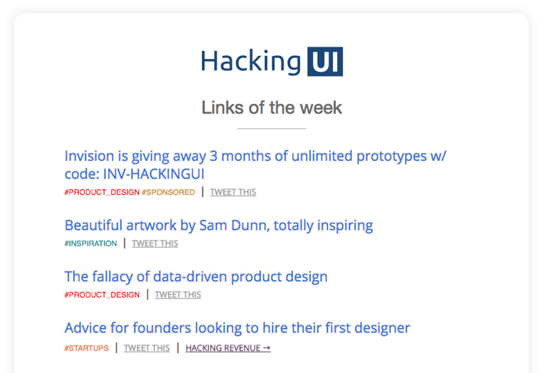 Hacking UI Newsletter