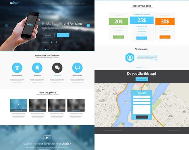 Aero Transparent Landing Page