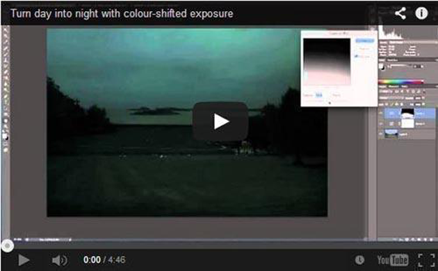 Turn Day into Night: Photoshop Colour Shifted Exposure