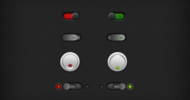 Control Room Switch Buttons
