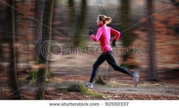 This running photo has a natural look and feel.