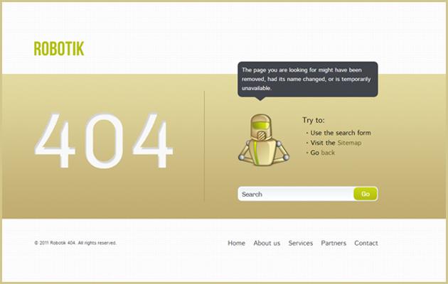 Bad Robot! 404 Page.