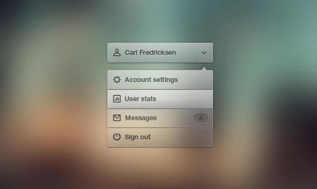 Roll Down Low PSD Menu