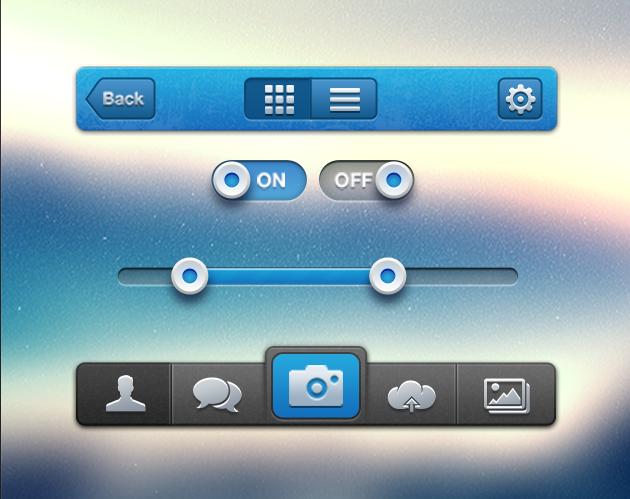 Aurora PSD iPhone UI