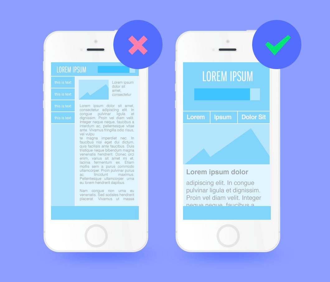 Optimizing for mobile in web design