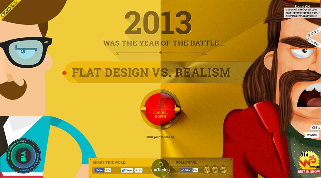 Flat Design Vs. Realism.