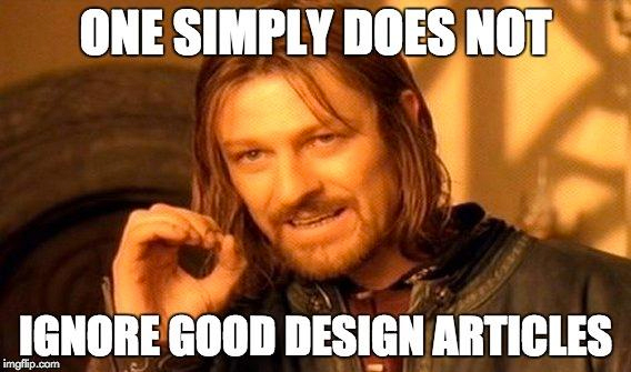 Design articles meme