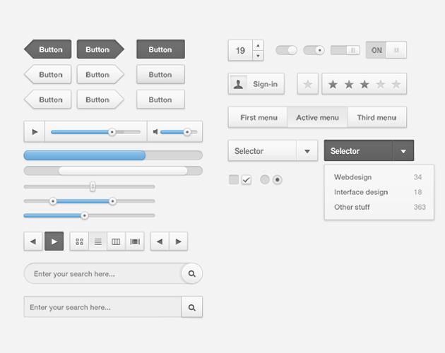 Lightweight PSD UI Kit for iOS