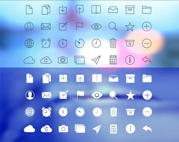 Transparency Icon Set