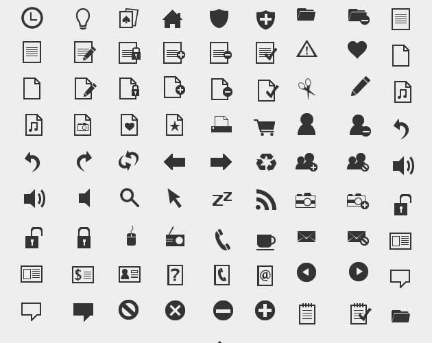 Monochrome Icon Set