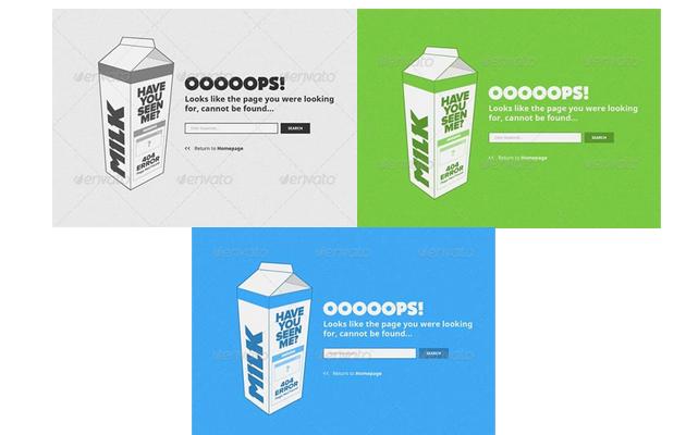 Got Milk 404 Page.