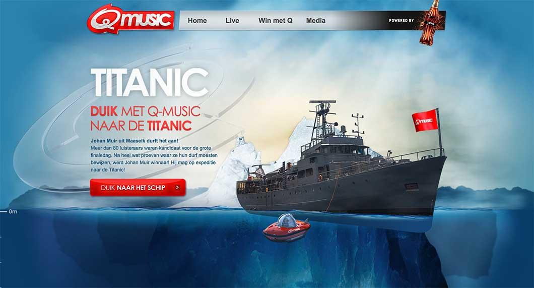 Q Music Titanic.