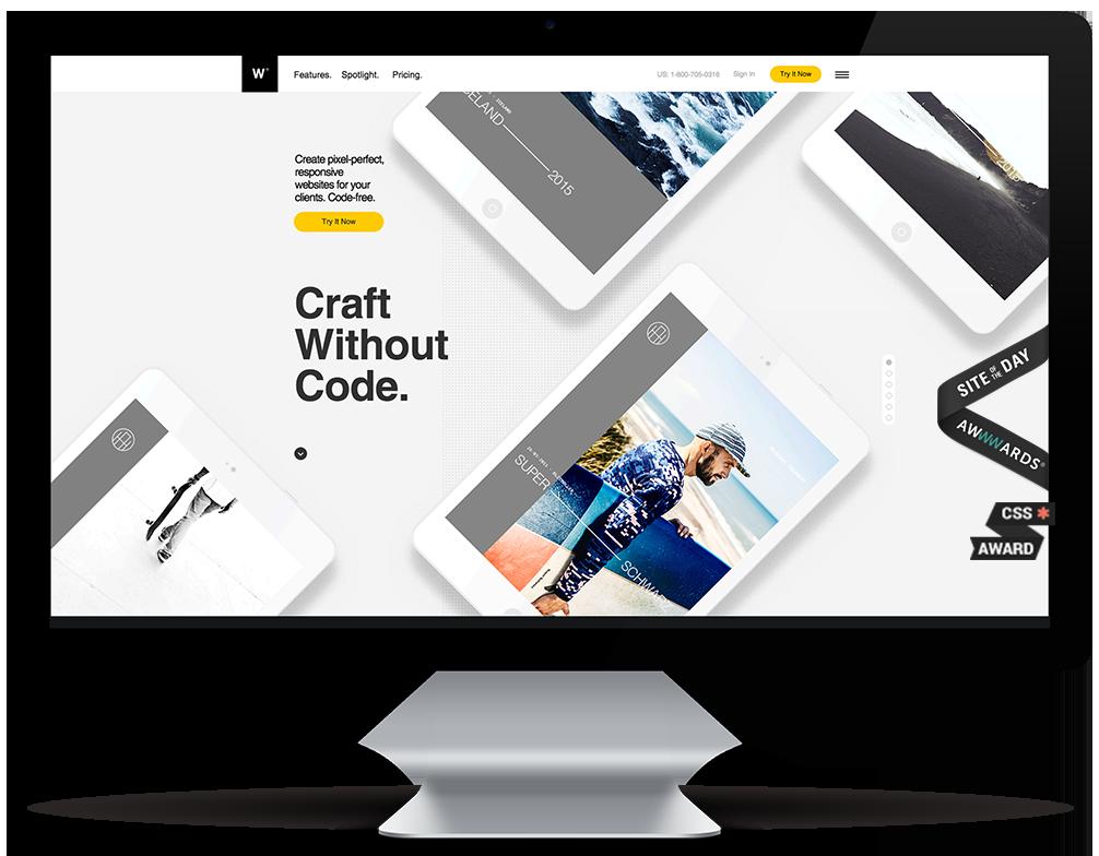 Webydo's code-free solution