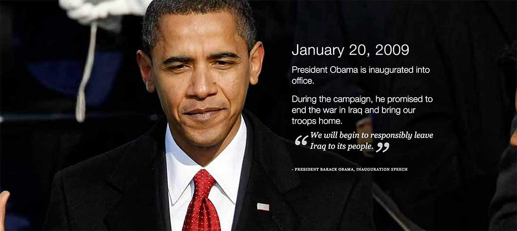 White House Iraq Timeline.