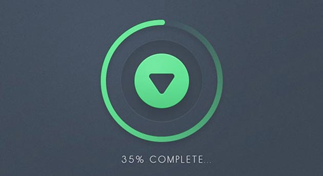 Round Green Download Button