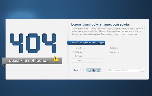 Digi Blue 404 Page.