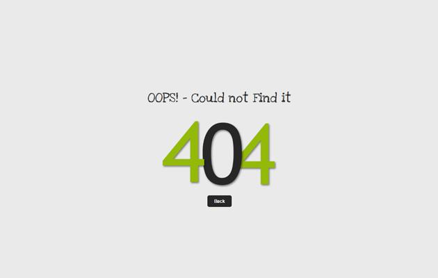 Four Black Four 404 Page.