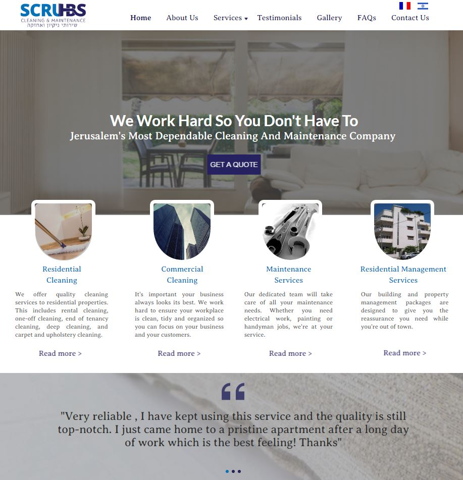 Scrubs Cleaning U0026 Maintenance. Web Design ...