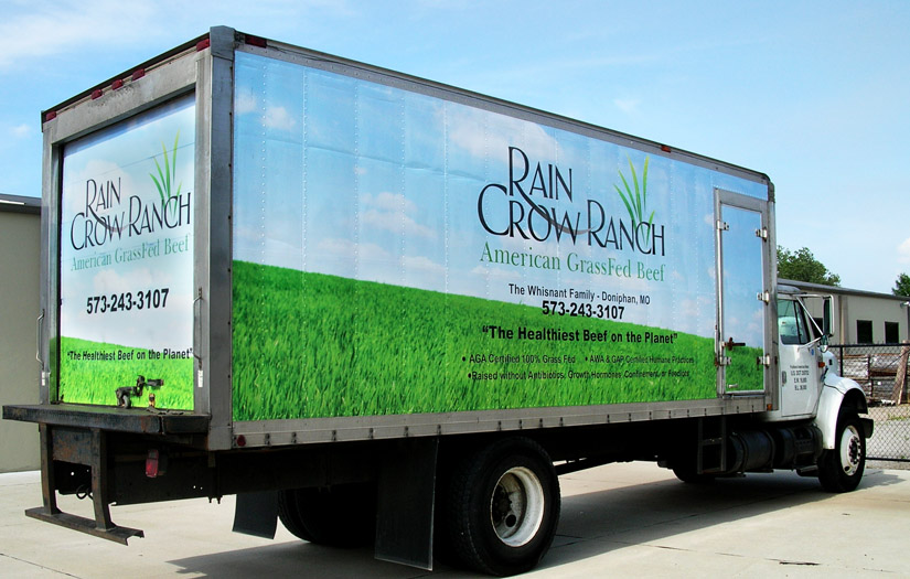 rain crow ranch truck wrap