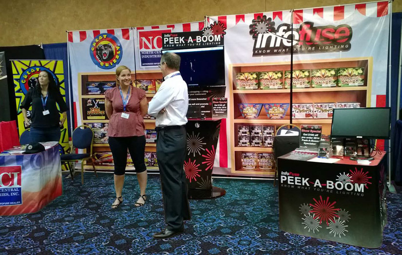 infofuse trade show display